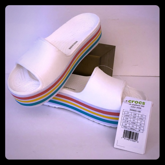 CROCS Shoes | Nwtcrocs Rainbow Platform